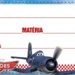 Etiqueta Escolar Personalizada Avioes da Disney 7