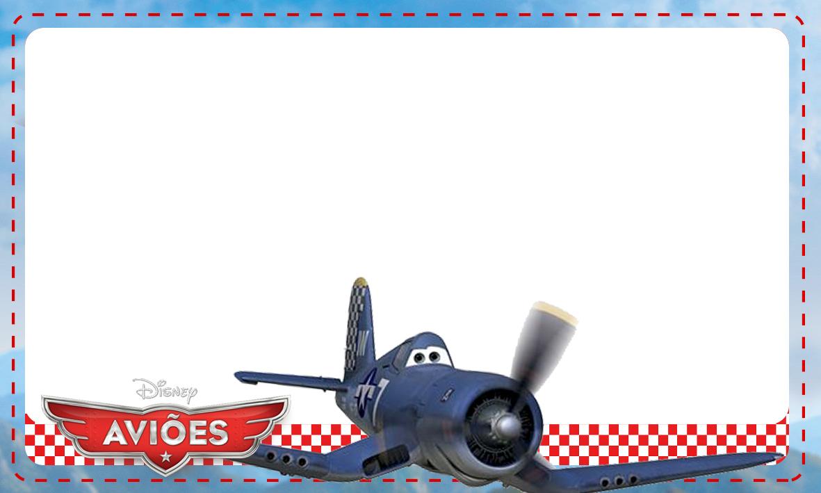 Etiqueta Escolar Personalizada Avioes da Disney 8