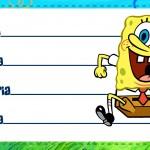 Etiqueta Escolar Personalizada Bob Esponja 4