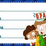 Etiqueta Escolar Personalizada DPA Detetives do Predio Azul