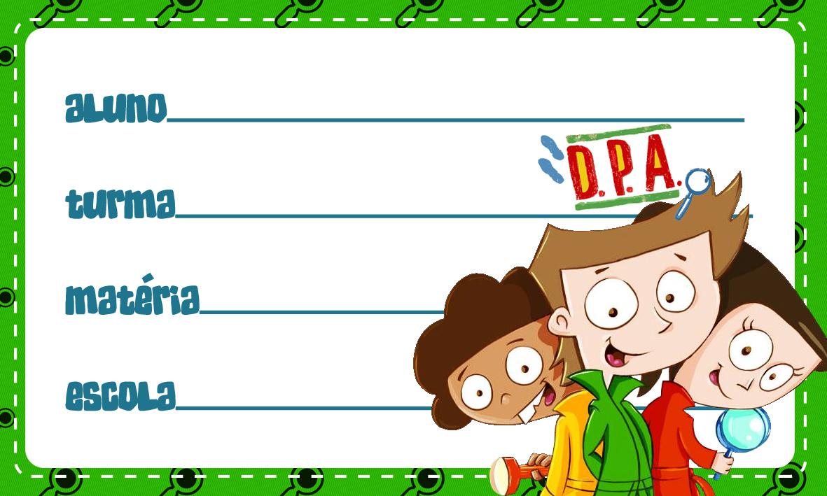 Etiqueta Escolar Personalizada DPA Detetives do Predio Azul 5
