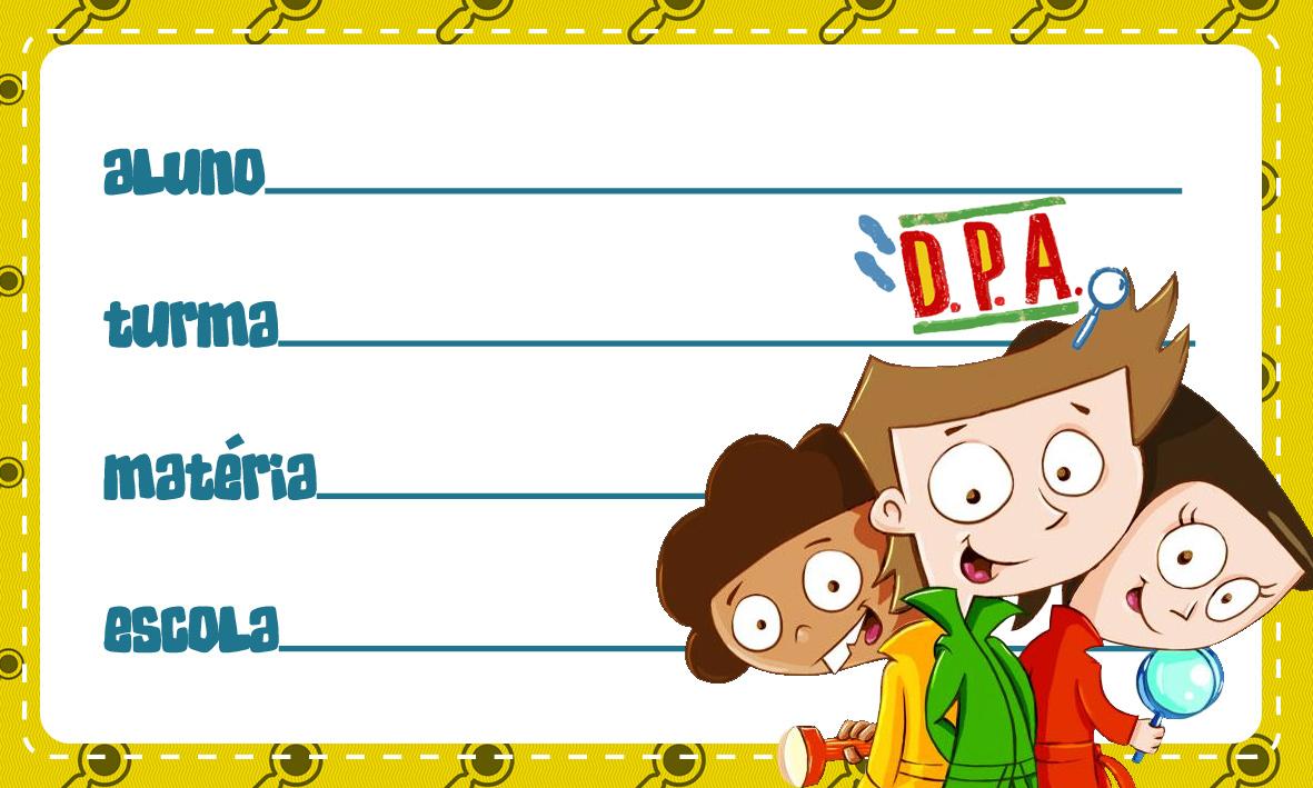 Etiqueta Escolar Personalizada DPA Detetives do Predio Azul 9