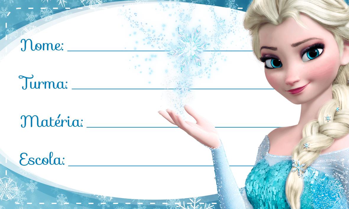 Etiqueta Escolar Personalizada Elza Frozen