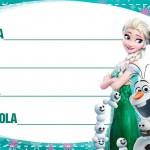Etiqueta Escolar Personalizada Frozen Fever 7