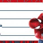 Etiqueta Escolar Personalizada Homem Aranha 10