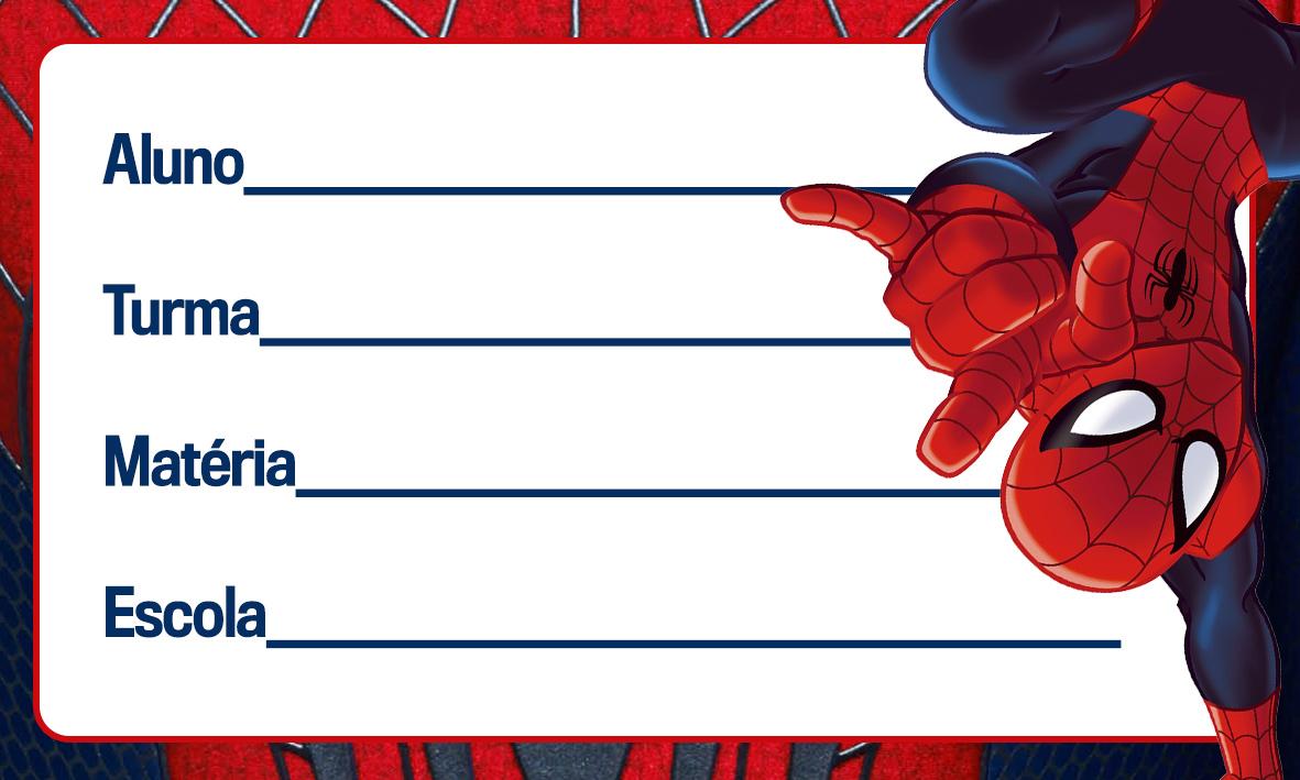 Etiqueta Escolar Personalizada Homem Aranha 11