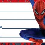 Etiqueta Escolar Personalizada Homem Aranha 12