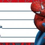 Etiqueta Escolar Personalizada Homem Aranha 9