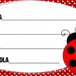 Etiqueta Escolar Personalizada Joaninha 2