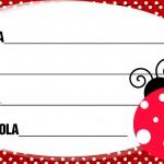 Etiqueta Escolar Personalizada Joaninha 4