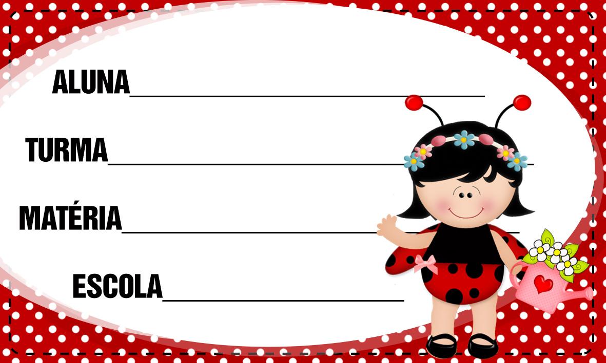 Etiqueta Escolar Personalizada Joaninha 6