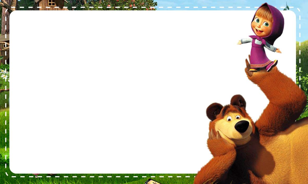 Etiqueta Escolar Personalizada Masha e o Urso 4