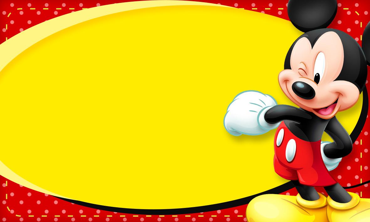 Etiqueta Escolar Personalizada Mickey 2
