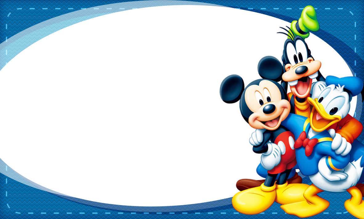 Etiqueta Escolar Personalizada Mickey e sua Turma 2