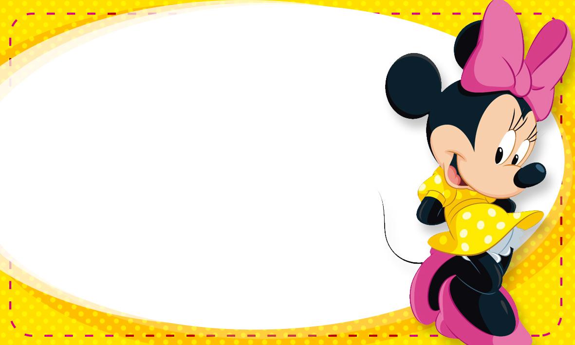 Etiqueta Escolar Personalizada Minnie Rosa 2