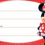 Etiqueta Escolar Personalizada Minnie Vermelha