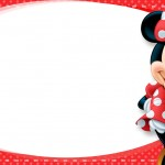 Etiqueta Escolar Personalizada Minnie Vermelha 2