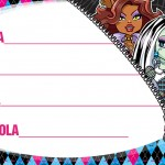 Etiqueta Escolar Personalizada Monster High 11