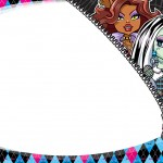 Etiqueta Escolar Personalizada Monster High 12
