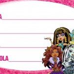 Etiqueta Escolar Personalizada Monster High