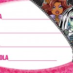 Etiqueta Escolar Personalizada Monster High 2