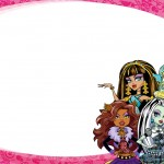 Etiqueta Escolar Personalizada Monster High 3