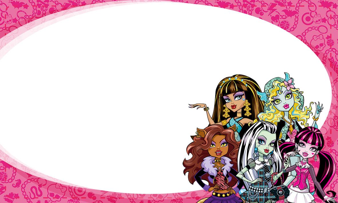Etiqueta Escolar Personalizada Monster High 3
