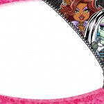 Etiqueta Escolar Personalizada Monster High 4
