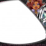 Etiqueta Escolar Personalizada Monster High 5