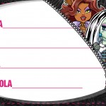 Etiqueta Escolar Personalizada Monster High 6