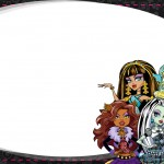 Etiqueta Escolar Personalizada Monster High 8