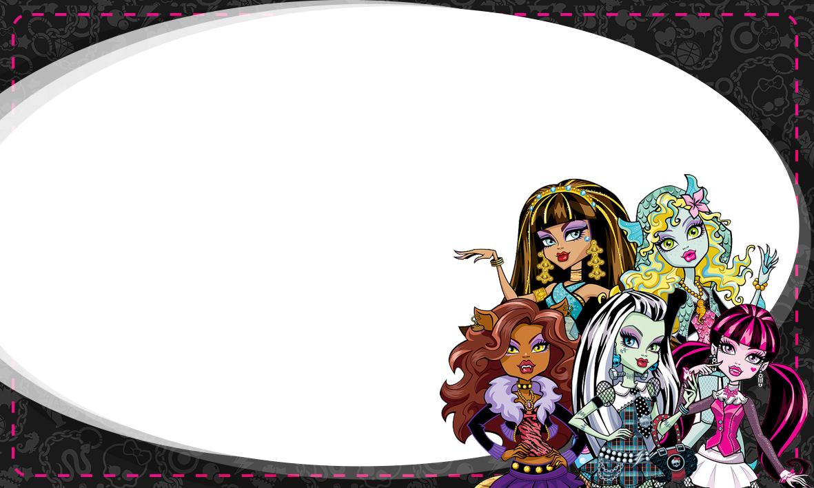 Etiqueta Escolar Personalizada Monster High 8