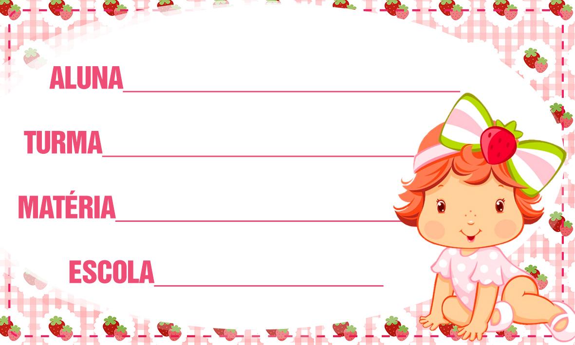 Etiqueta Escolar Personalizada Moranguinho Baby 4