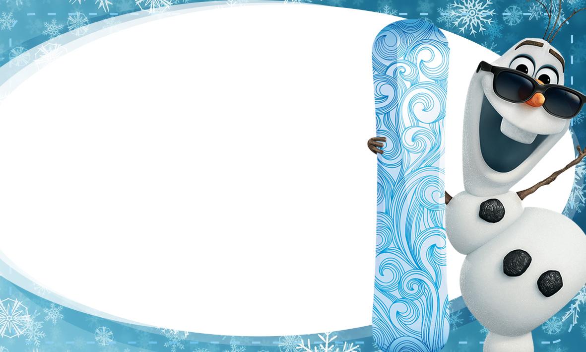 Etiqueta Escolar Personalizada Olaf Frozen 4