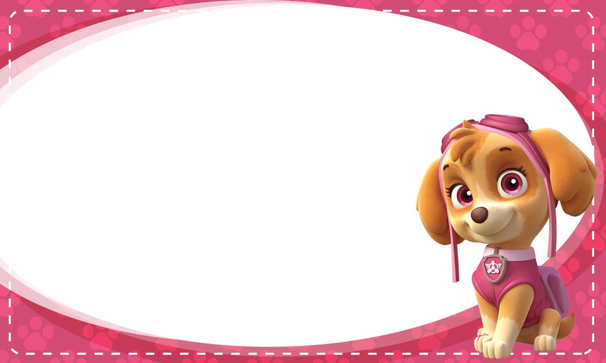 Etiqueta Escolar Personalizada Patrulha Canina 3
