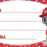Etiqueta Escolar Personalizada Patrulha Canina 5