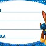Etiqueta Escolar Personalizada Patrulha Canina 7