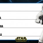 Etiqueta Escolar Personalizada Star Wars 11