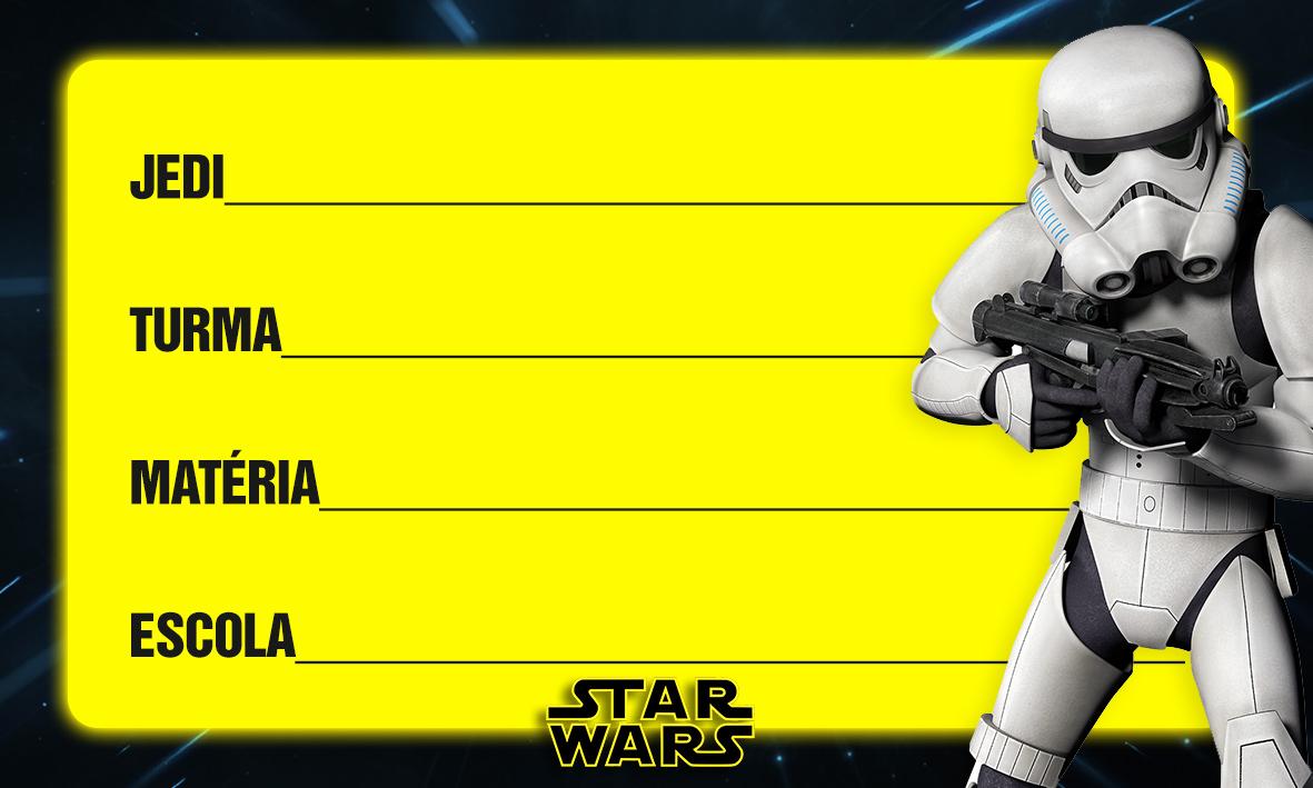 Etiqueta Escolar Personalizada Star Wars 12