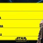 Etiqueta Escolar Personalizada Star Wars 13