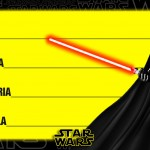 Etiqueta Escolar Personalizada Star Wars