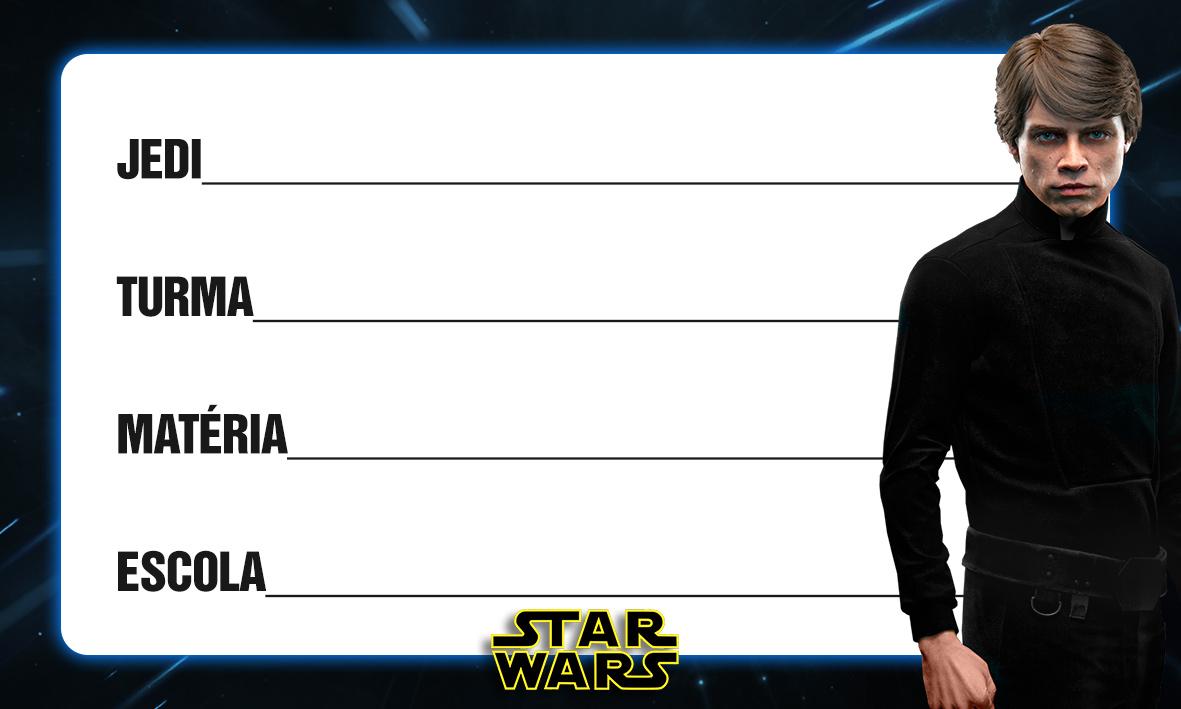 Etiqueta Escolar Personalizada Star Wars 2