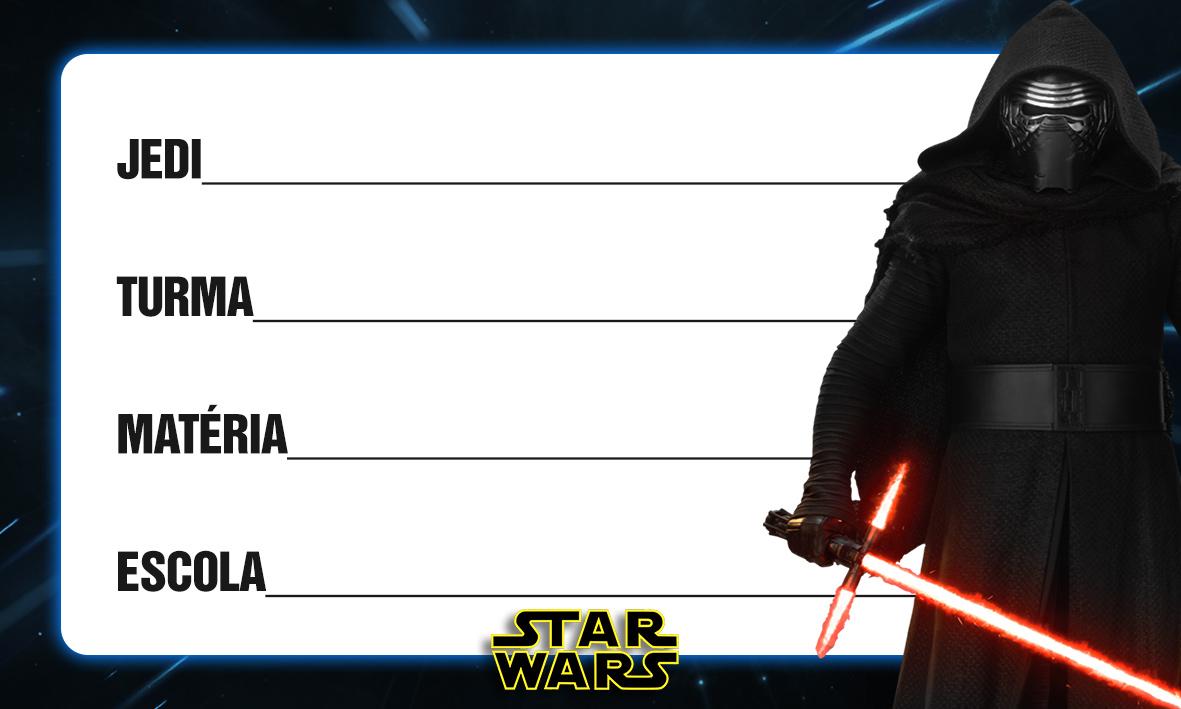 Etiqueta Escolar Personalizada Star Wars 3