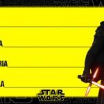 Etiqueta Escolar Personalizada Star Wars 4