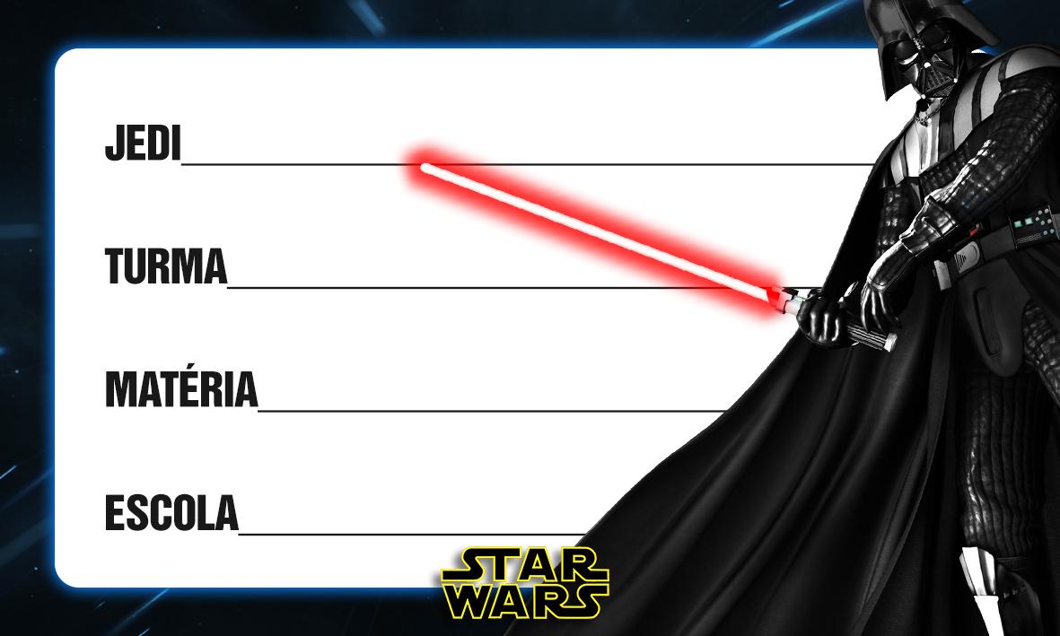 Etiqueta Escolar Personalizada Star Wars 5