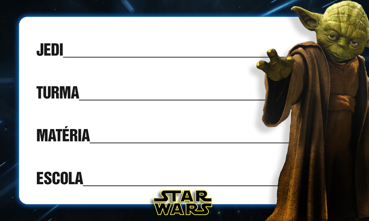 Etiqueta Escolar Personalizada Star Wars 6
