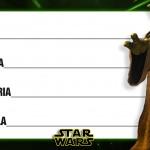 Etiqueta Escolar Personalizada Star Wars 7