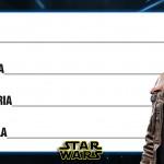 Etiqueta Escolar Personalizada Star Wars 8