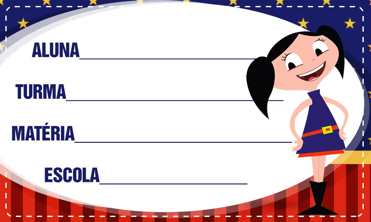 Etiqueta Escolar Personalizadas Show da Luna 3