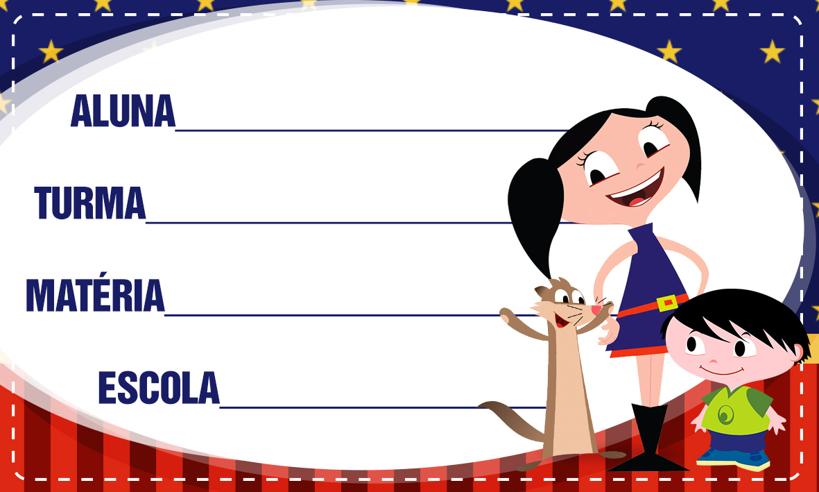Etiqueta Escolar Personalizadas Show da Luna